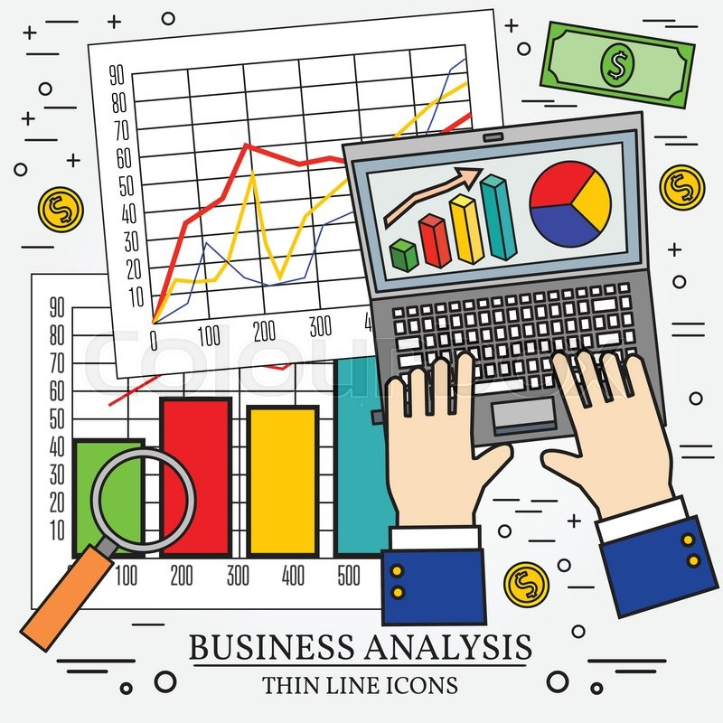 Concepts for business analysis and planning, consulting, team work - business analysis report