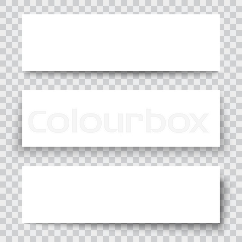 Set of blank paper sheet with vertical Stock Vector Colourbox