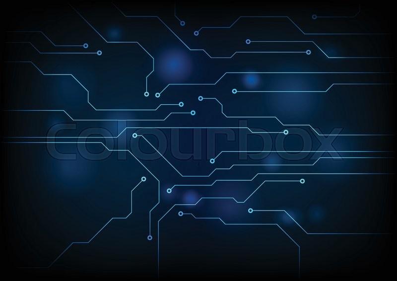 Dark blue circuit board technology background Vector graphic design - circuit design background