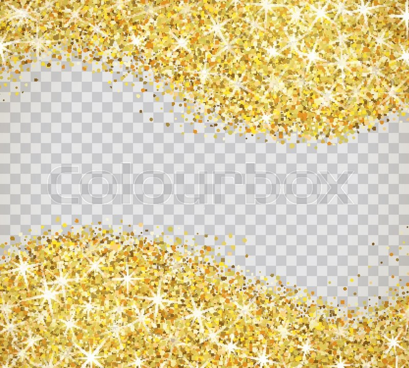 Falling Glitter Confetti Wallpapers Gold Glitter Texture Isolated On Transparent Background