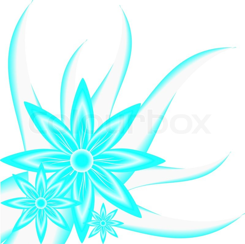 Flower background, multi-colored flowers on a blue background