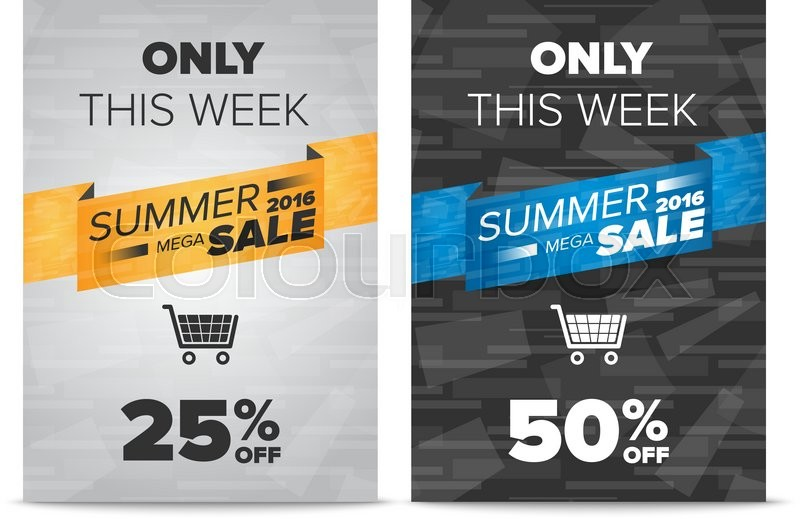 Summer sale discount flyer templates with sample text and shopping