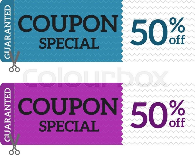 Gift Voucher Coupon Vector Stock Vector Colourbox