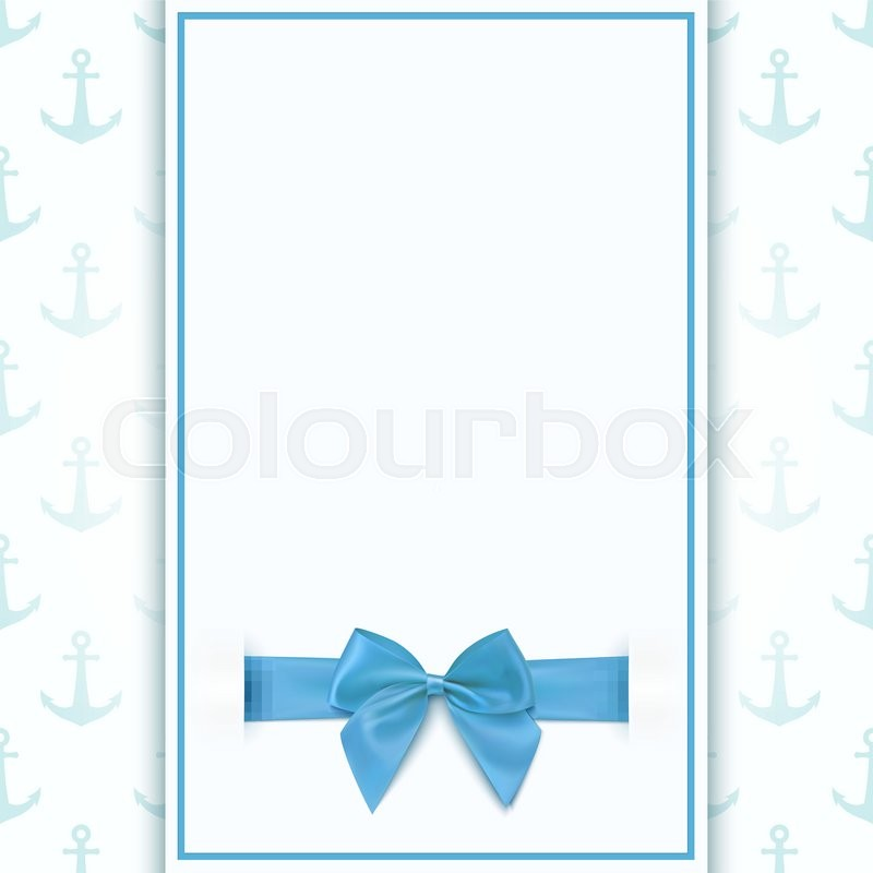 Blank greeting card template for baby Stock Vector Colourbox