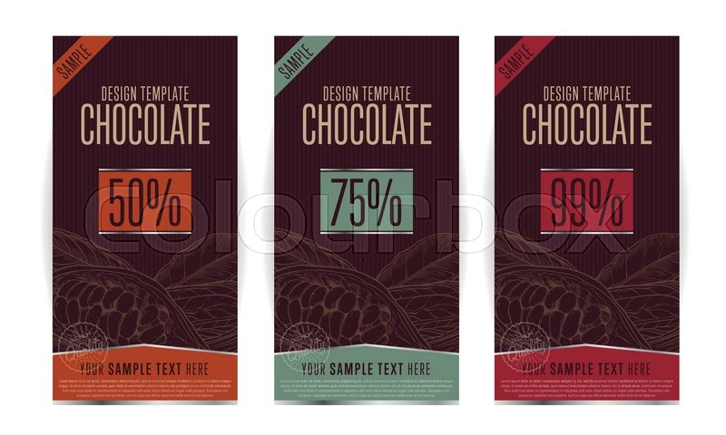 Chocolate packaging design template Stock Vector Colourbox