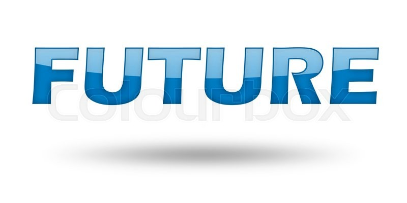 Word Future with blue letters and Stock Photo Colourbox