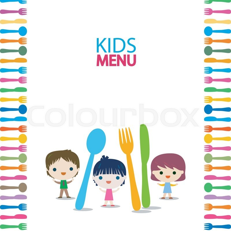 Menu kids background design Stock Vector Colourbox
