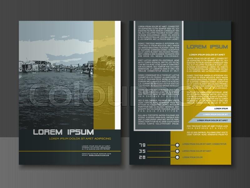Modern style Brochure and Flyer Design Stock Vector Colourbox