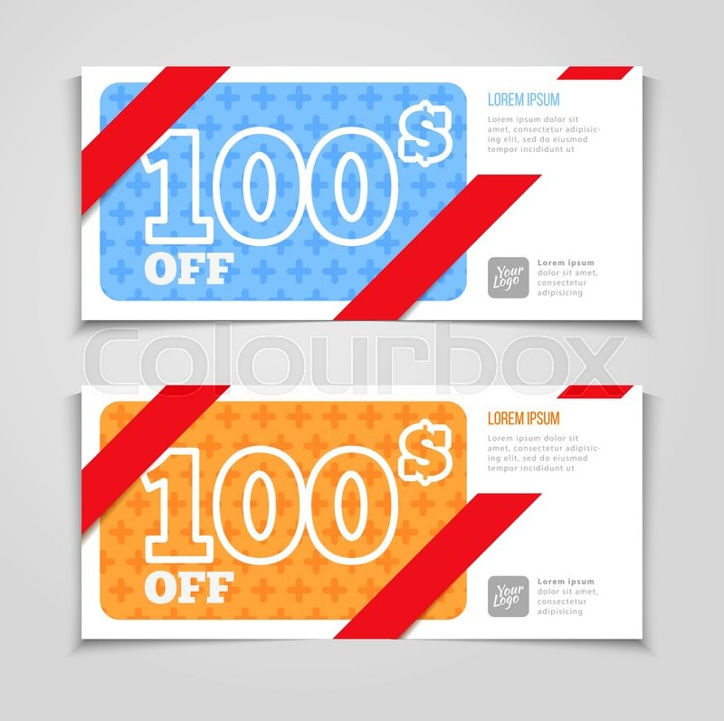 Gift or discount voucher template with modern design, special offer - discount voucher design