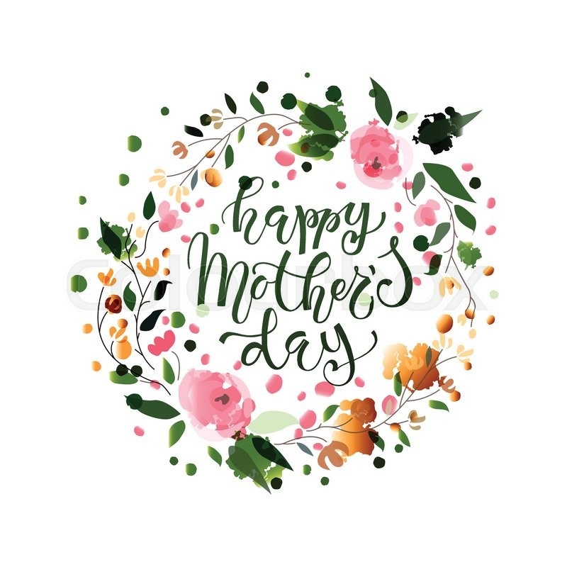 Happy Mother\u0027s Day text as Mother\u0027s Day badge, tag and icon Quote - mothers day flyer