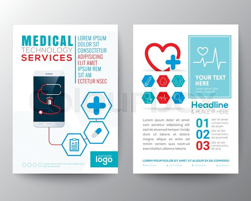 Health Care and Medical Poster Brochure Flyer design Layout vector