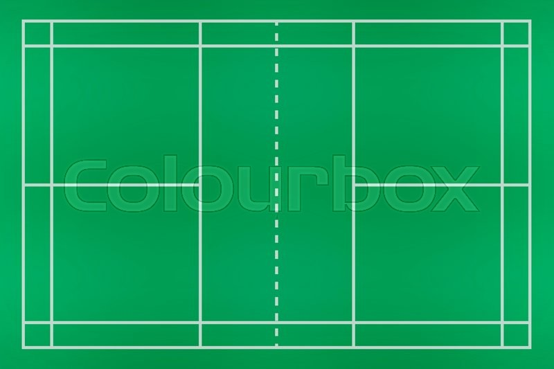 Aerial View Of A Hardwood Badminton Court Stock Photo