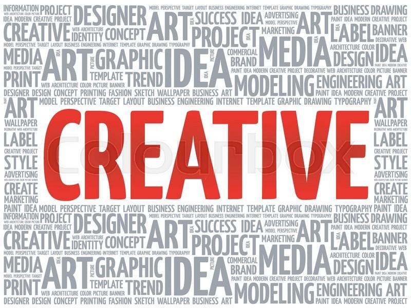 CREATIVE word cloud, creative business Stock Vector Colourbox