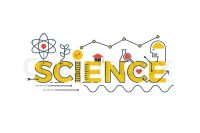 Illustration of SCIENCE word in STEM - science, technology ...