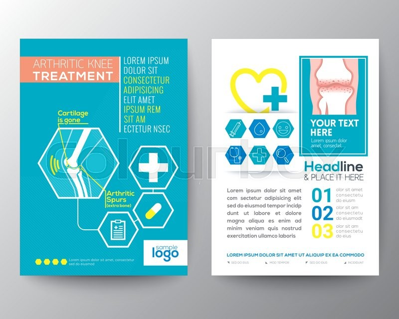 Arthritic Knee Treatment Health Care and Medical Poster Brochure
