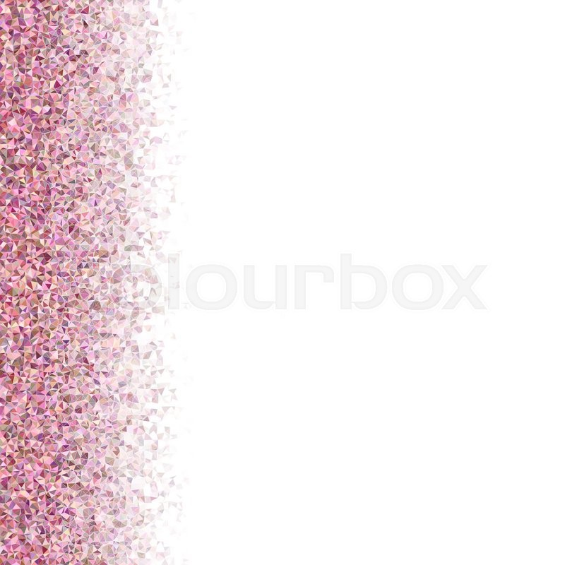 Cute Bordered Pastel Flower Wallpaper Pink Colorful Irregular Triangle Mosaic Left Side Border