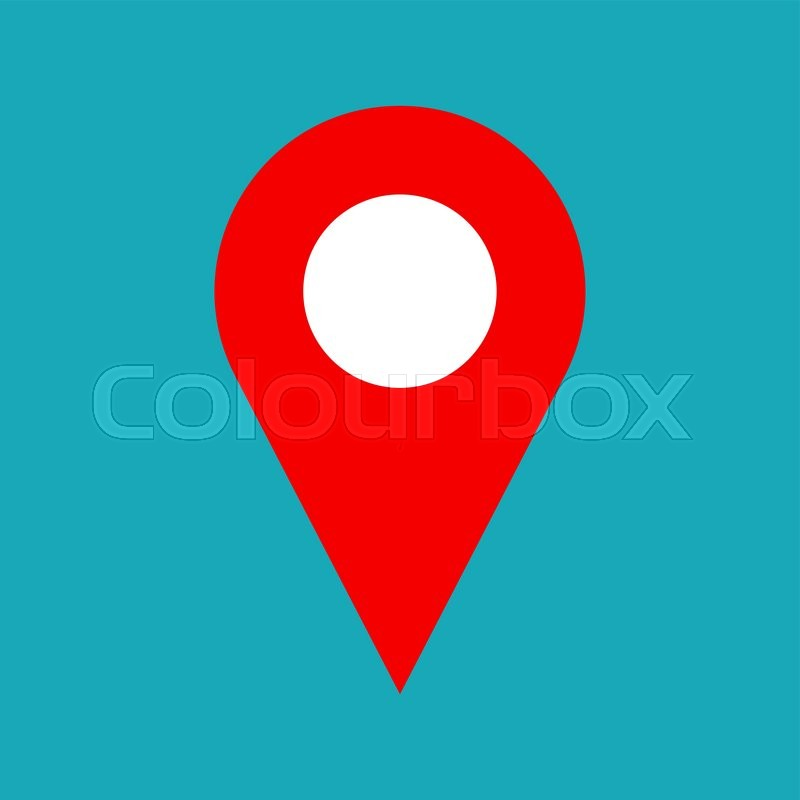 Vector map pin icon Map pin icon symbol for address Flat map pin