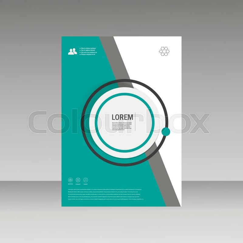 Vector Leaflet Brochure Flyer template A4 size design, annual report - annual report template design