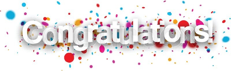 Congratulations paper banner with Stock Vector Colourbox