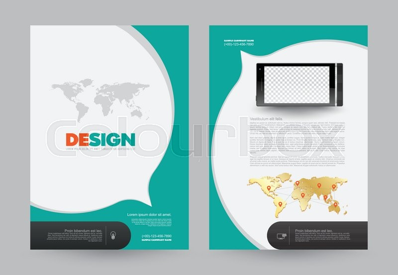 Cover annual report Leaflet Brochure Flyer template A4 size design - annual report template