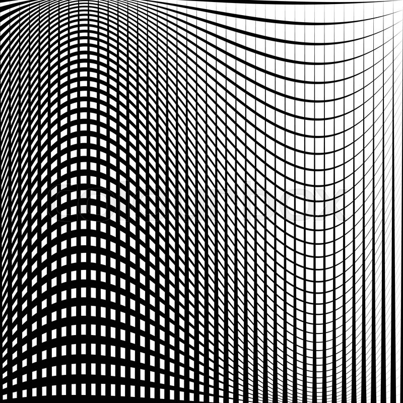 Distorted abstract grid, mesh background Intersecting lines