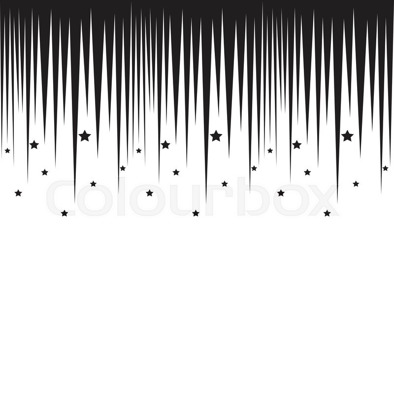 Falling stars horizontal black border Repeatable background in - black border background