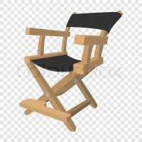 Director chair icon in cartoon style on transparent ...