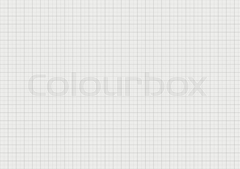 Gray color graph paper on horizontal a4 sheet size Stock Vector