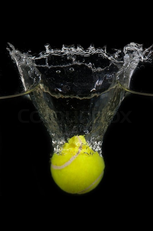 Falling Water Wallpaper 1080p A Tennis Ball Is Dropped Into Water In Stock Photo