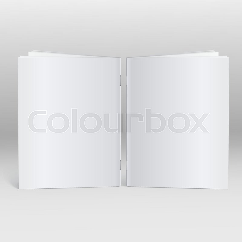 Blank Brochure magazine isolated on grey background for your design