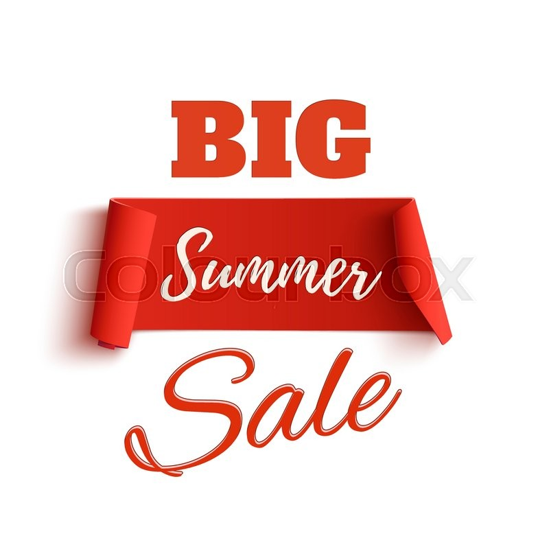 Big summer sale poster template, isolated on white background Sale - sale tag template