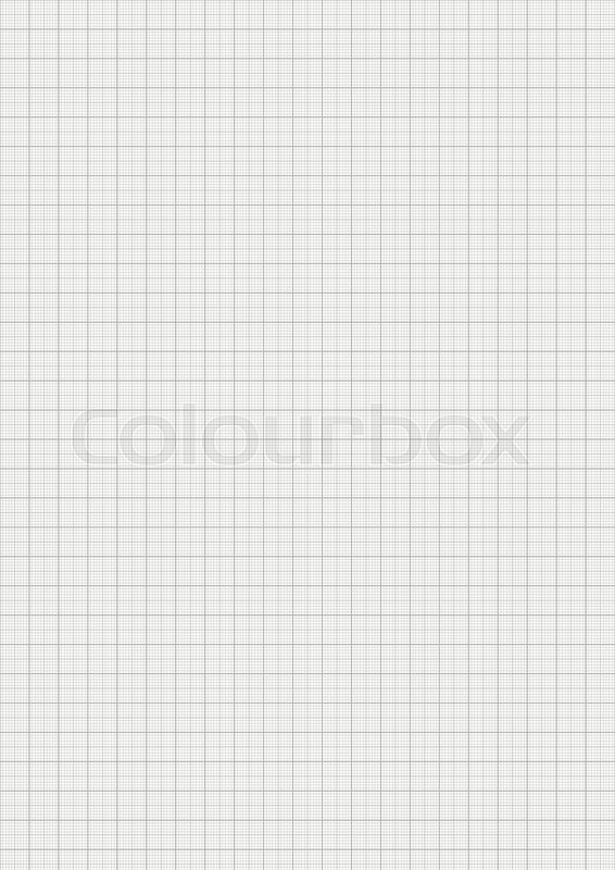 Gray color graph paper on vertical a4 sheet size Stock Vector