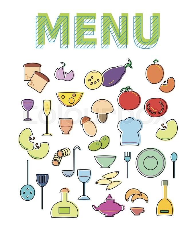 Restaurant cafe menu template design Vector illustration for food - Cafe Menu Template