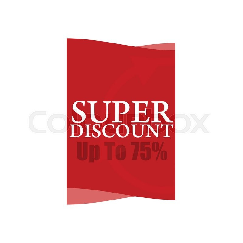 Super discount Sale banner vector isolated Sale tag Special offer - sale tag template