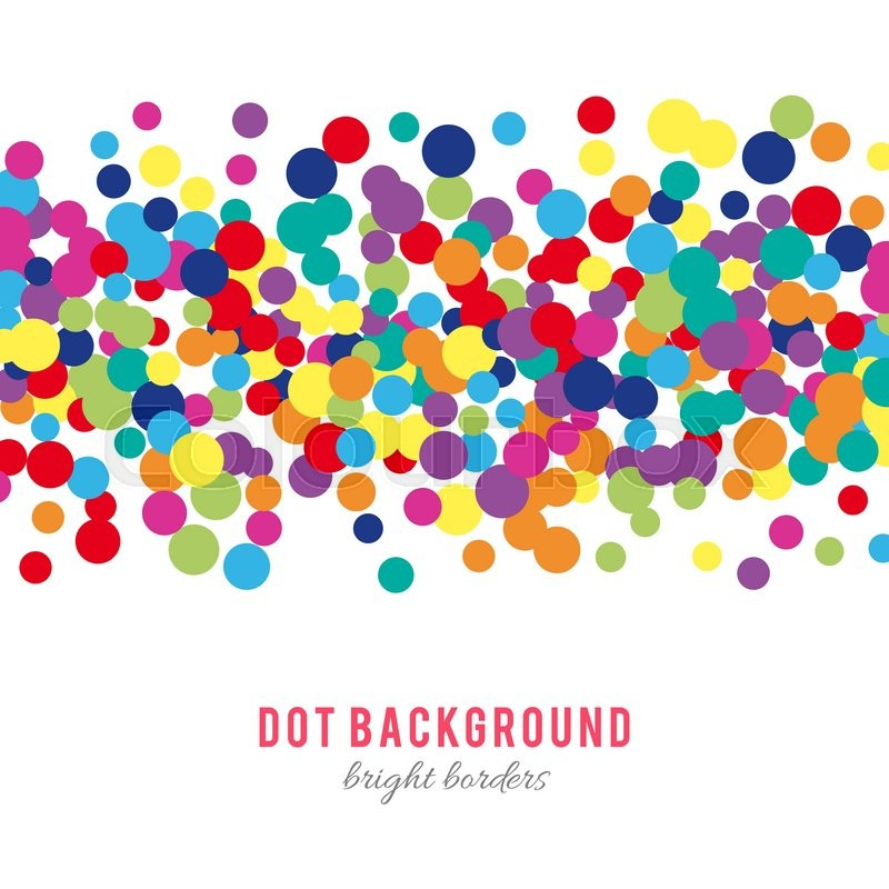 Colorful abstract dot background Stock Vector Colourbox