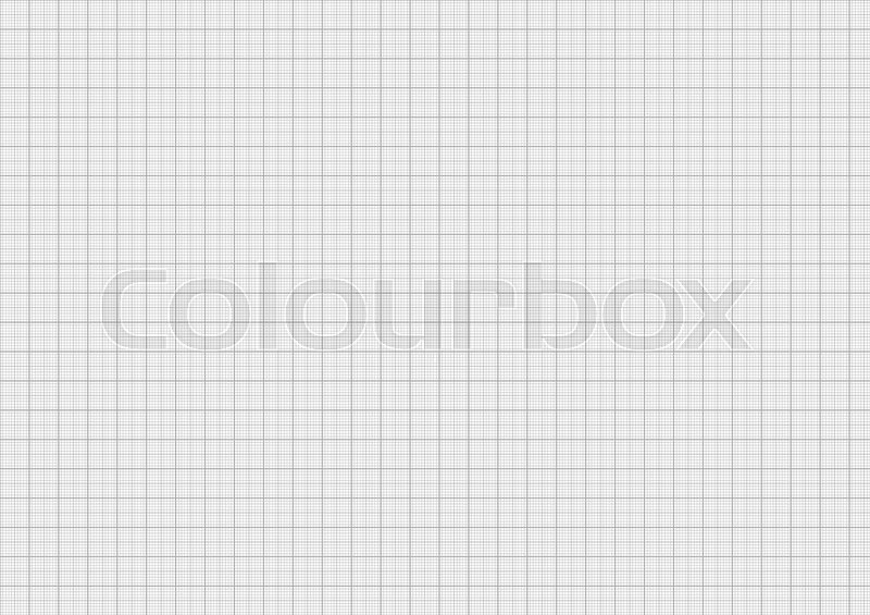 Gray color graph paper on horizontal a4 sheet size Stock Photo