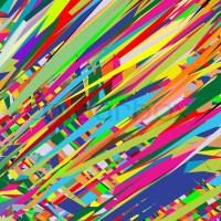 Color rain, abstract texture; vector art illustration ...