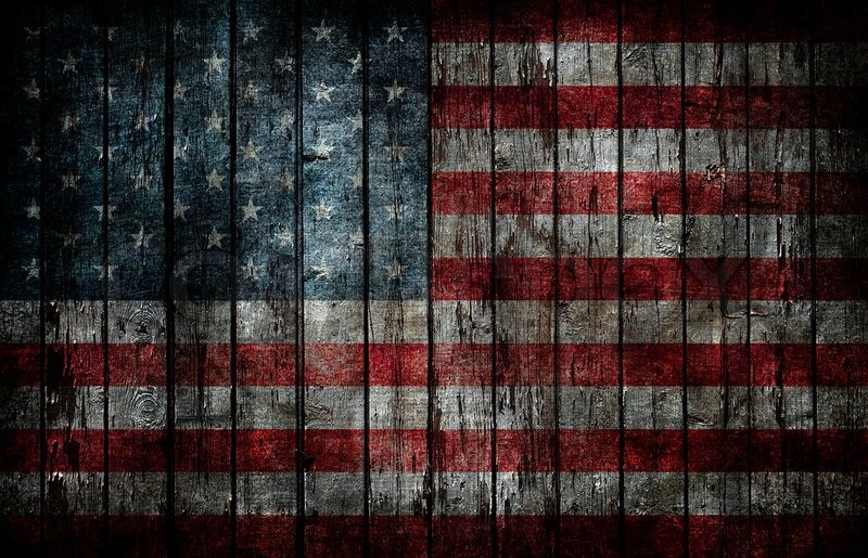 American flag painted on fence background Stock Photo Colourbox - America Flag Background