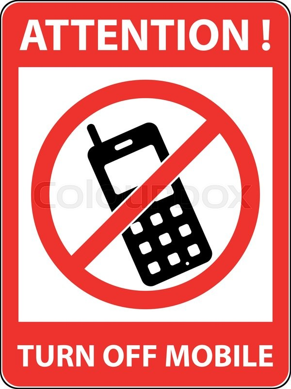 No phone, telephone, cellphone and smartphone prohibited symbol - Turn Off Cell Phone Sign