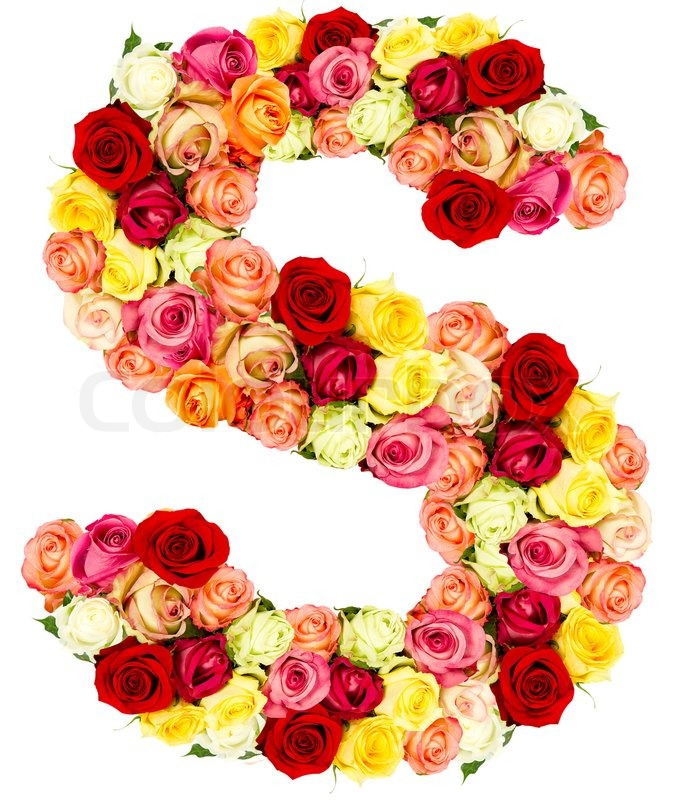 Cute Cloud Wallpaper S Roses Flower Alphabet Stock Photo Colourbox