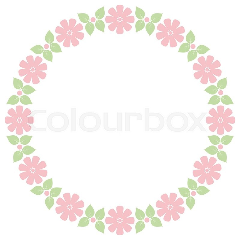 Cute retro flowers frame for wedding invitations and birthday cards - frame for cards