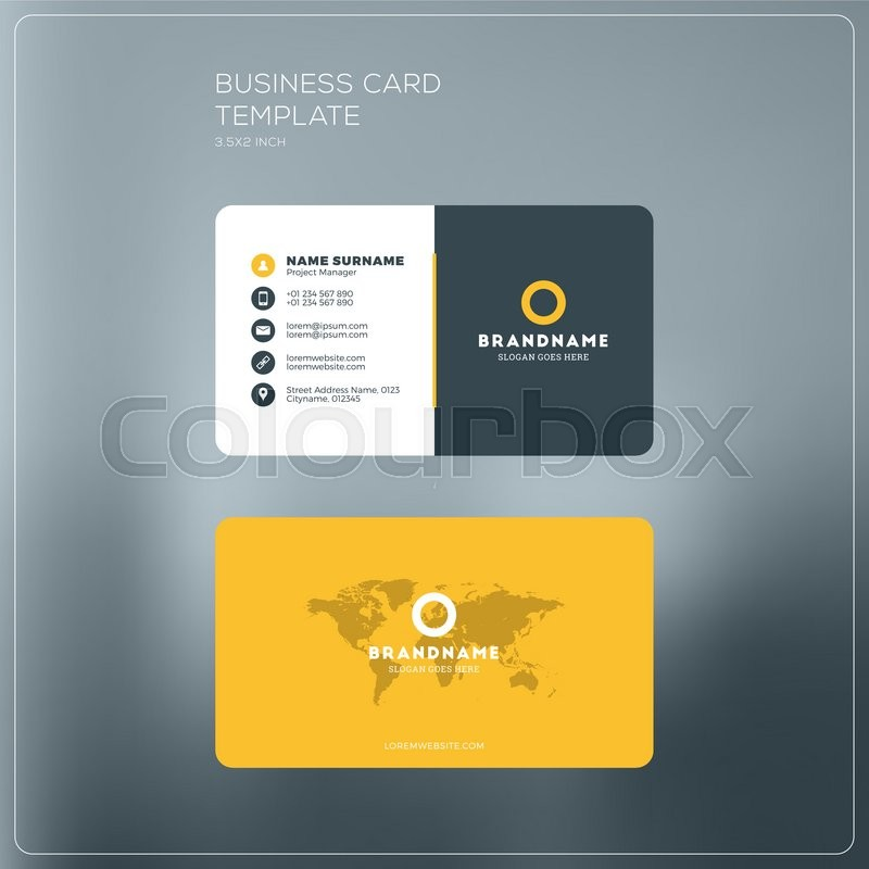 Corporate Business Card Print Stock Vector Colourbox