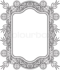 Ethnic template for design wedding invitations and ...