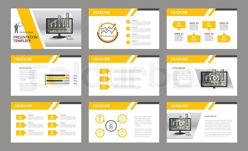 Set of presentation templateUse in annual report, corporate, flyer