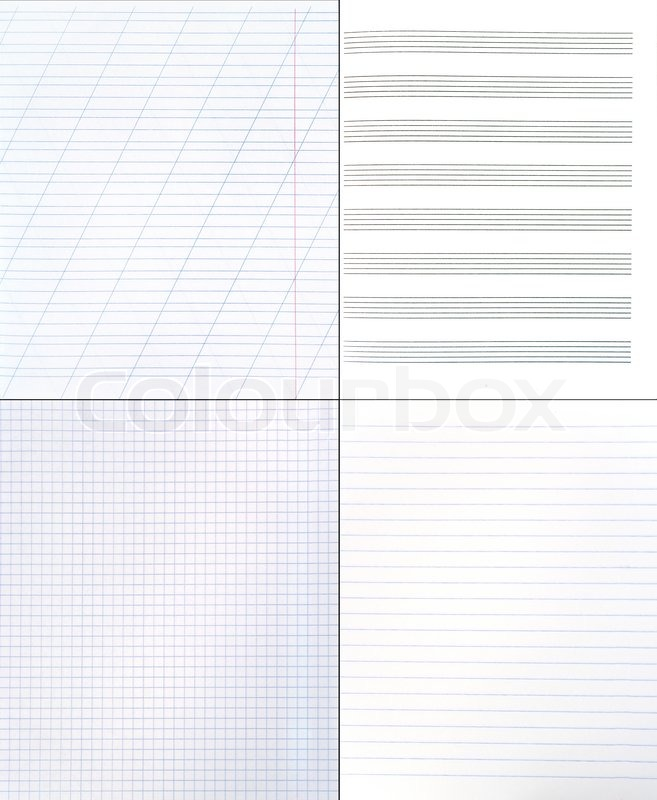Collection of different paper backgrounds (blank lined and squared - lined blank paper