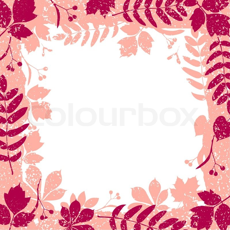 Fall Colored Background Wallpaper Autumn Leaves Grange Border Vector Colorful Clipart