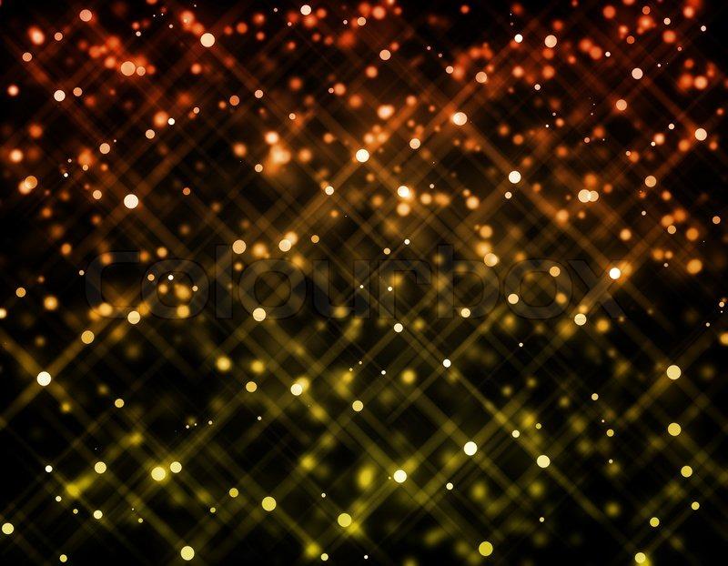 Falling Gold Sparkles Wallpaper Glitter Of Color Christmas Lighting Background Stock