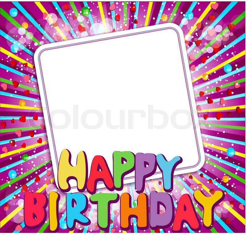 Vector background with a congratulatory card and says \