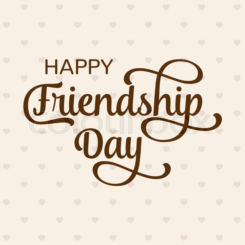 Happy Friendship Day greeting card For poster, flyer, banner for