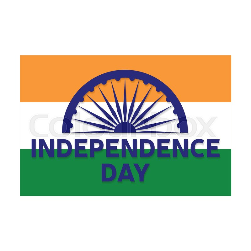 Indian independence day greeting card, Stock Vector Colourbox